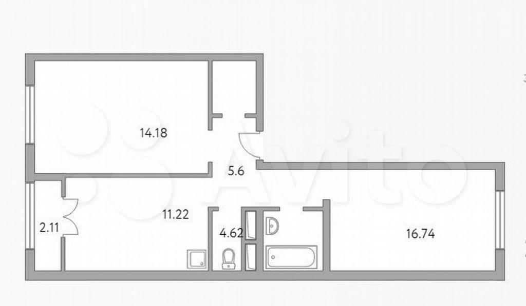 Продажа двухкомнатной квартиры деревня Глухово, улица Рублёвское Предместье 1Б, цена 5699999 рублей, 2021 год объявление №691378 на megabaz.ru