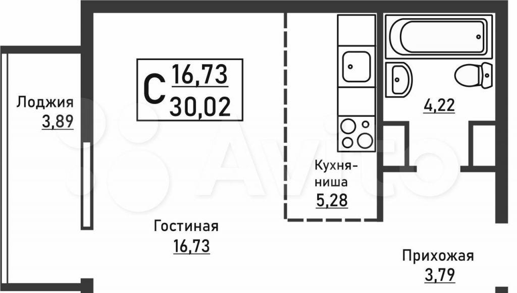 Продажа студии поселок Отрадное, метро Пятницкое шоссе, Пятницкая улица 12, цена 5950000 рублей, 2021 год объявление №615854 на megabaz.ru