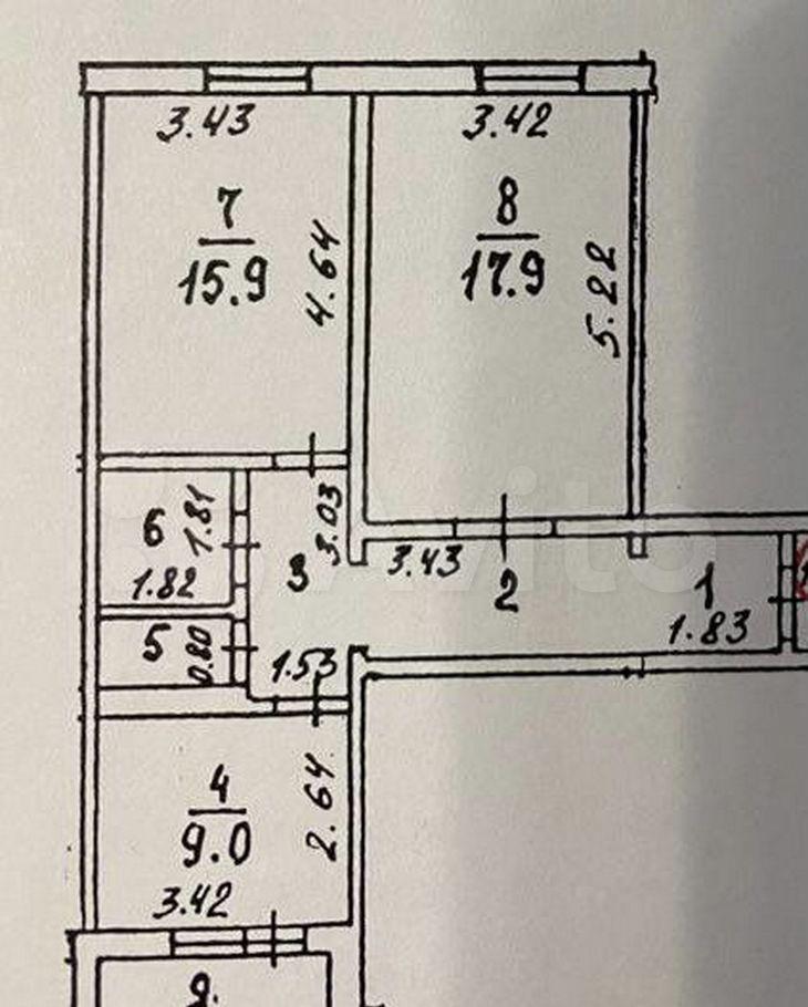 Продажа двухкомнатной квартиры Электрогорск, улица Кржижановского 22, цена 3800000 рублей, 2021 год объявление №608719 на megabaz.ru