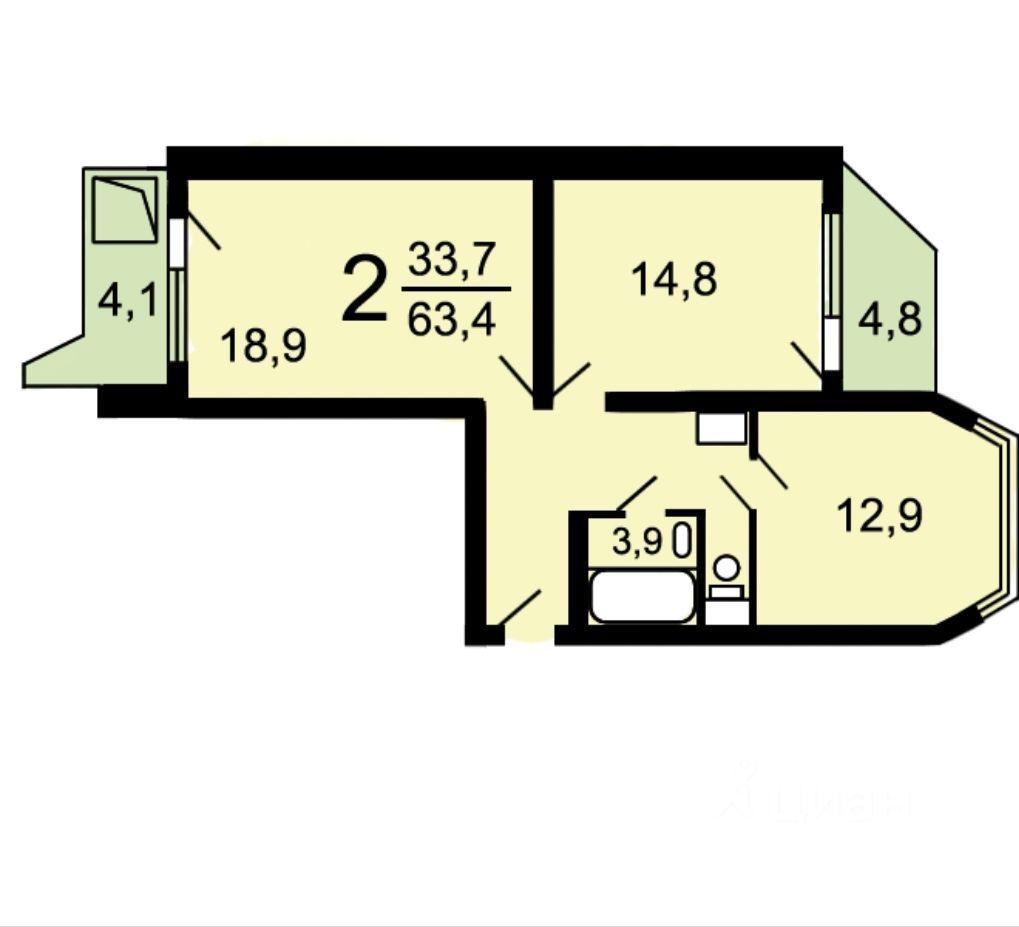 Аренда двухкомнатной квартиры Балашиха, метро Курская, Зелёная улица 35, цена 26000 рублей, 2021 год объявление №1383661 на megabaz.ru