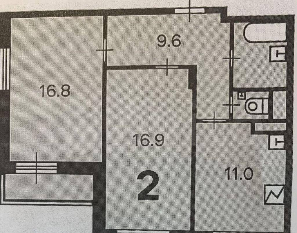 Продажа двухкомнатной квартиры Москва, метро Ботанический сад, Сельскохозяйственная улица 14к3, цена 20400000 рублей, 2021 год объявление №664502 на megabaz.ru