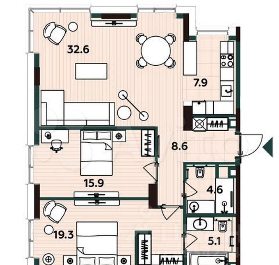 Продажа трёхкомнатной квартиры Москва, метро Савеловская, Бумажный проезд 4, цена 34000000 рублей, 2021 год объявление №610407 на megabaz.ru