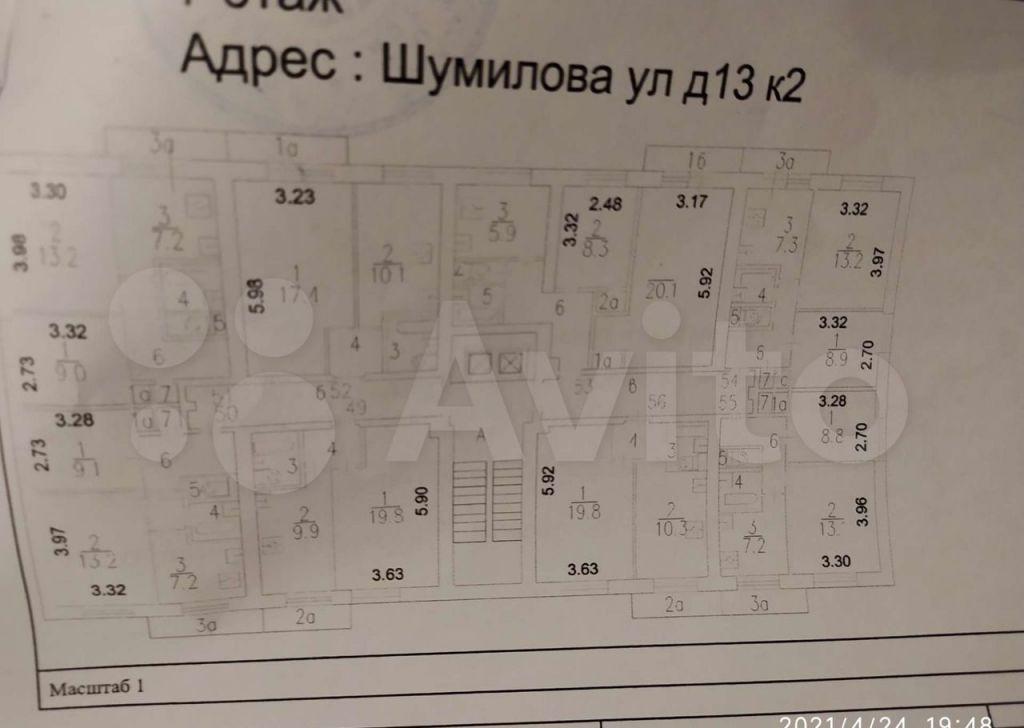 Продажа однокомнатной квартиры Москва, метро Кузьминки, улица Шумилова 13к2, цена 9500000 рублей, 2021 год объявление №611504 на megabaz.ru