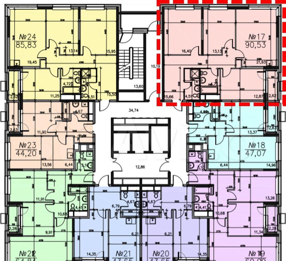 Продажа четырёхкомнатной квартиры Москва, метро Варшавская, цена 19700000 рублей, 2021 год объявление №595564 на megabaz.ru