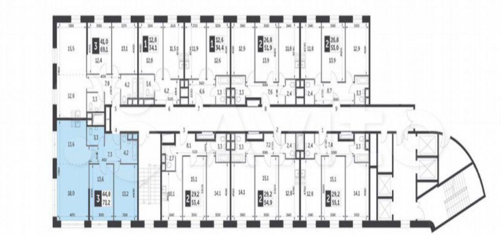 Продажа трёхкомнатной квартиры Москва, метро Тушинская, Волоколамское шоссе 71/21, цена 22700000 рублей, 2021 год объявление №613209 на megabaz.ru