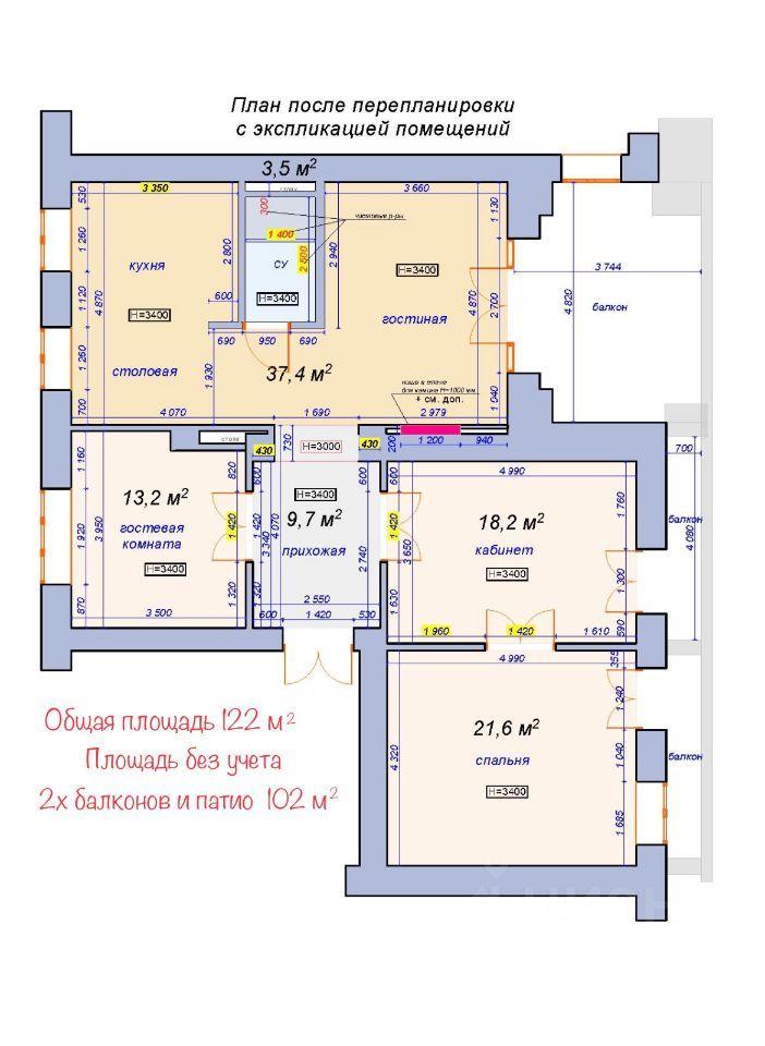 Продажа четырёхкомнатной квартиры Москва, метро Таганская, Котельническая набережная 25к2, цена 77000000 рублей, 2021 год объявление №637705 на megabaz.ru