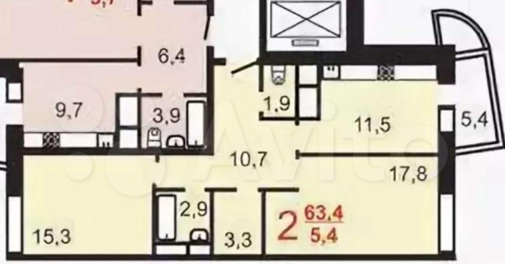 Аренда двухкомнатной квартиры поселок ВНИИССОК, улица Михаила Кутузова 1, цена 37500 рублей, 2021 год объявление №1383399 на megabaz.ru