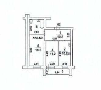 Продажа двухкомнатной квартиры поселок Жилино-1, цена 6300000 рублей, 2021 год объявление №635325 на megabaz.ru