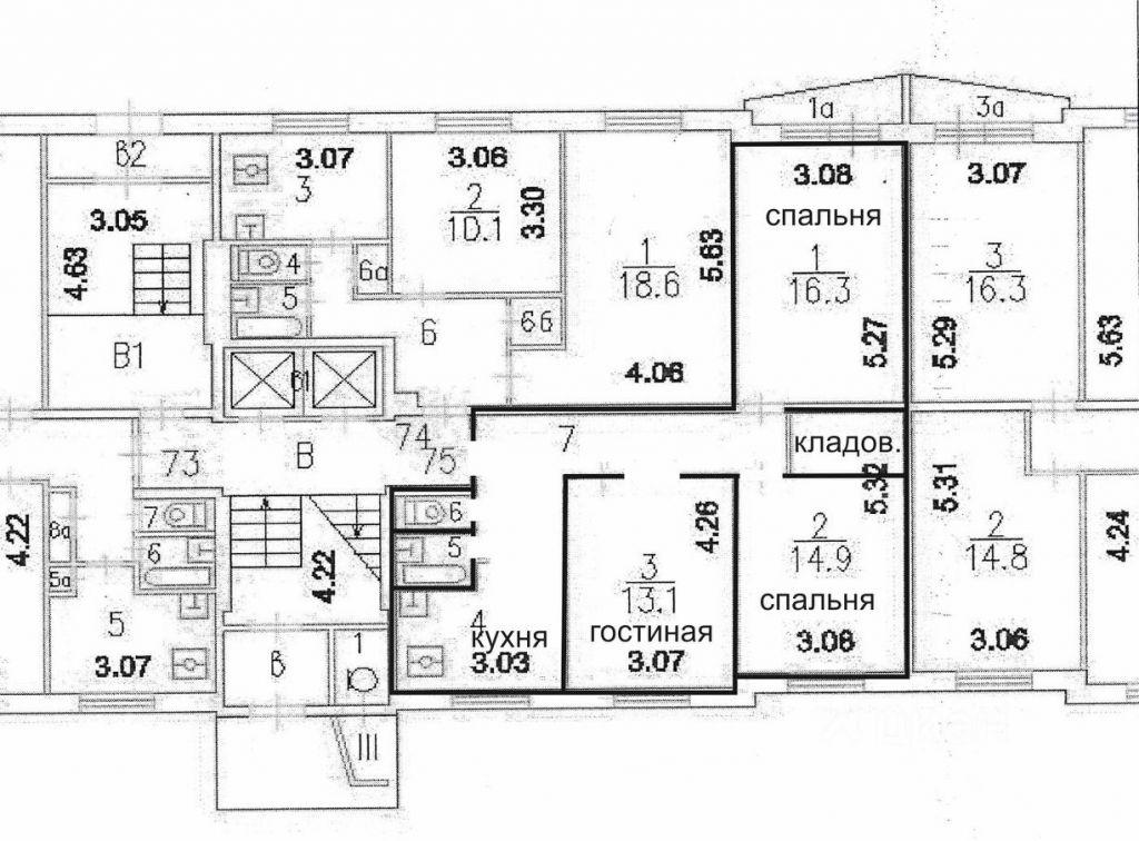 Продажа трёхкомнатной квартиры Москва, метро Нахимовский проспект, Болотниковская улица 42к3, цена 15350000 рублей, 2021 год объявление №617592 на megabaz.ru