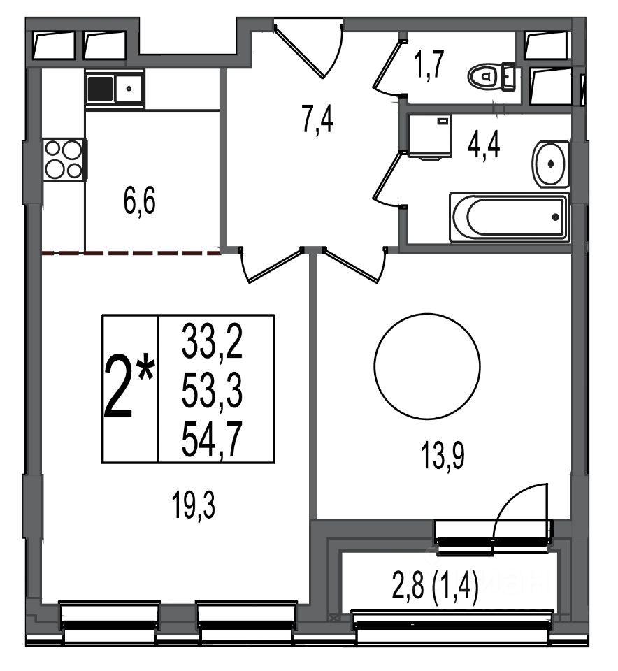 Продажа двухкомнатной квартиры Москва, метро Электрозаводская, цена 22500000 рублей, 2021 год объявление №660947 на megabaz.ru