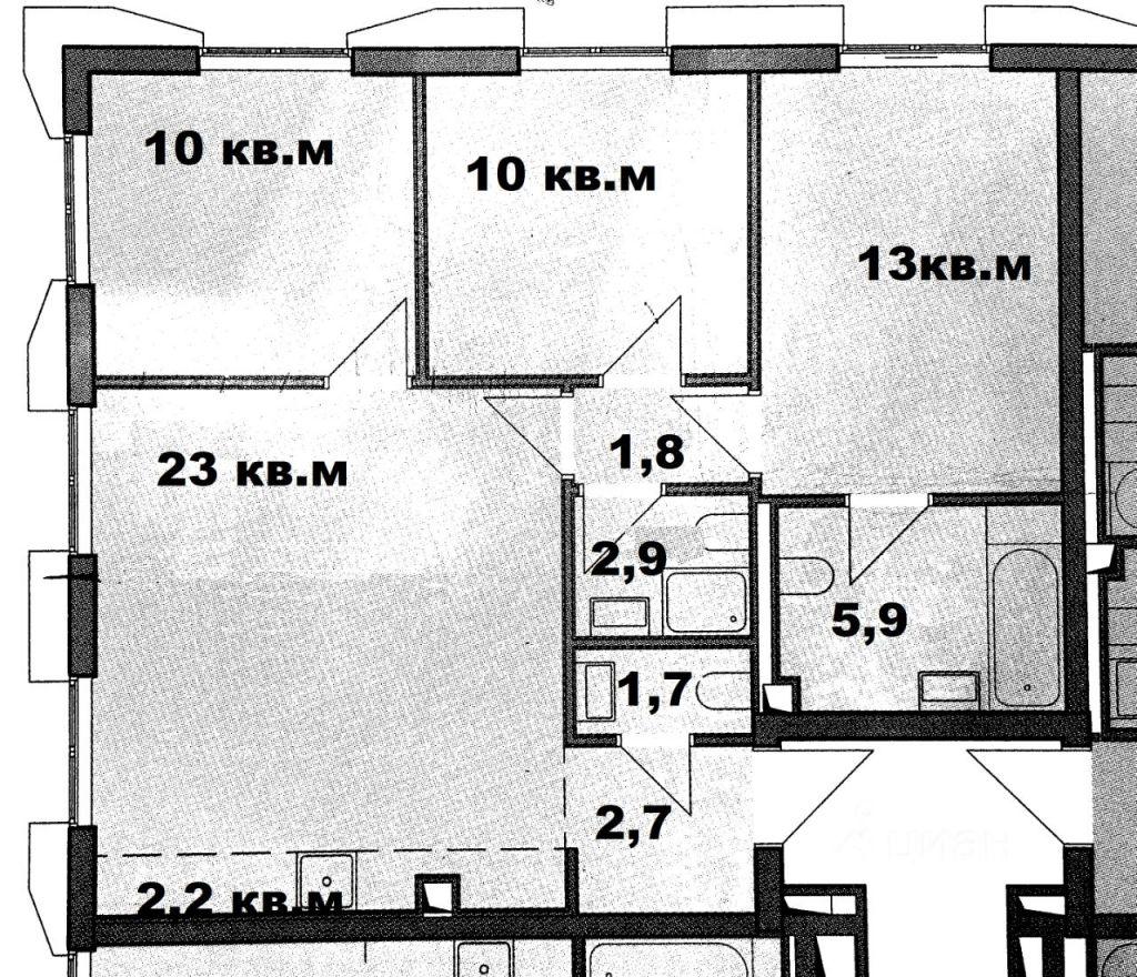 Продажа четырёхкомнатной квартиры Москва, метро Речной вокзал, Беломорская улица 23, цена 19790000 рублей, 2021 год объявление №617672 на megabaz.ru