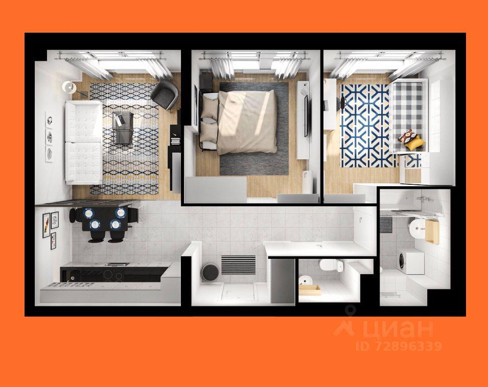 Продажа двухкомнатной квартиры Котельники, Сосновая улица 5, цена 10700000 рублей, 2021 год объявление №618110 на megabaz.ru