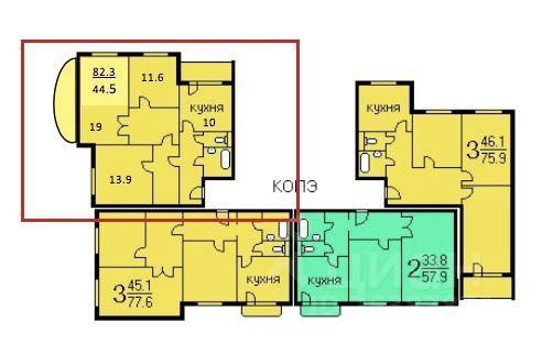 Продажа трёхкомнатной квартиры Москва, метро Аннино, Варшавское шоссе 160к2, цена 20500000 рублей, 2021 год объявление №617695 на megabaz.ru