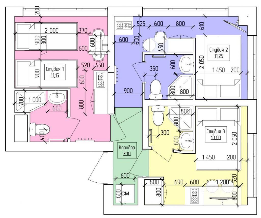 Продажа трёхкомнатной квартиры Москва, метро Ботанический сад, проезд Серебрякова 11к4, цена 11900000 рублей, 2021 год объявление №617676 на megabaz.ru