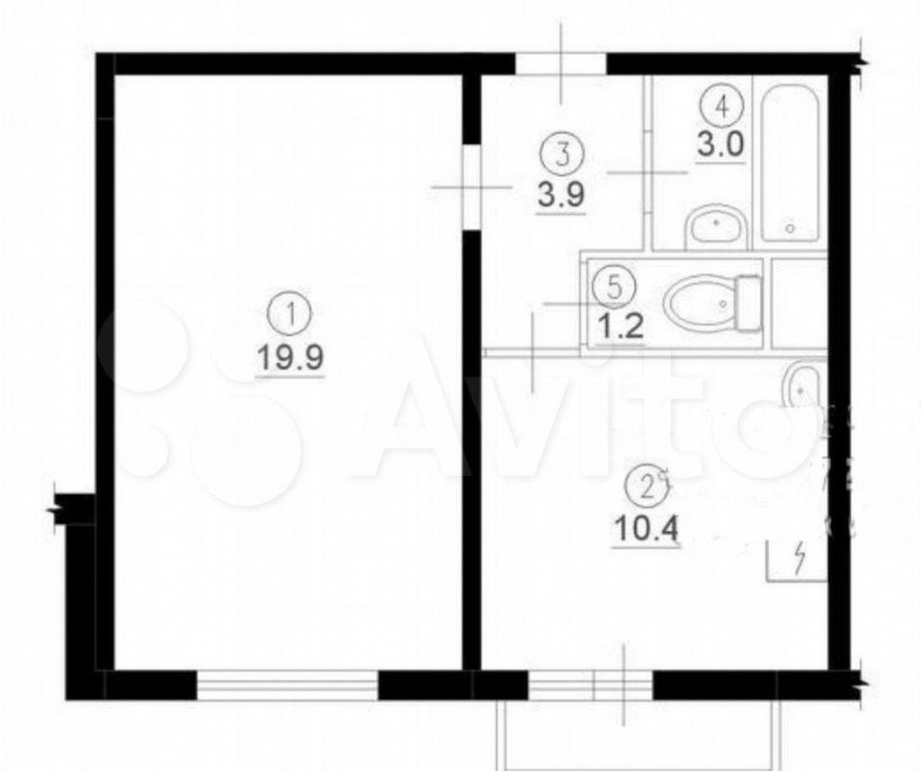 Продажа однокомнатной квартиры Москва, метро Южная, Чертановская улица 9к4, цена 10800000 рублей, 2021 год объявление №619450 на megabaz.ru