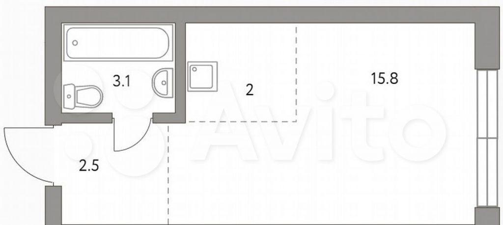 Продажа студии Москва, метро Волгоградский проспект, цена 5963525 рублей, 2021 год объявление №698030 на megabaz.ru