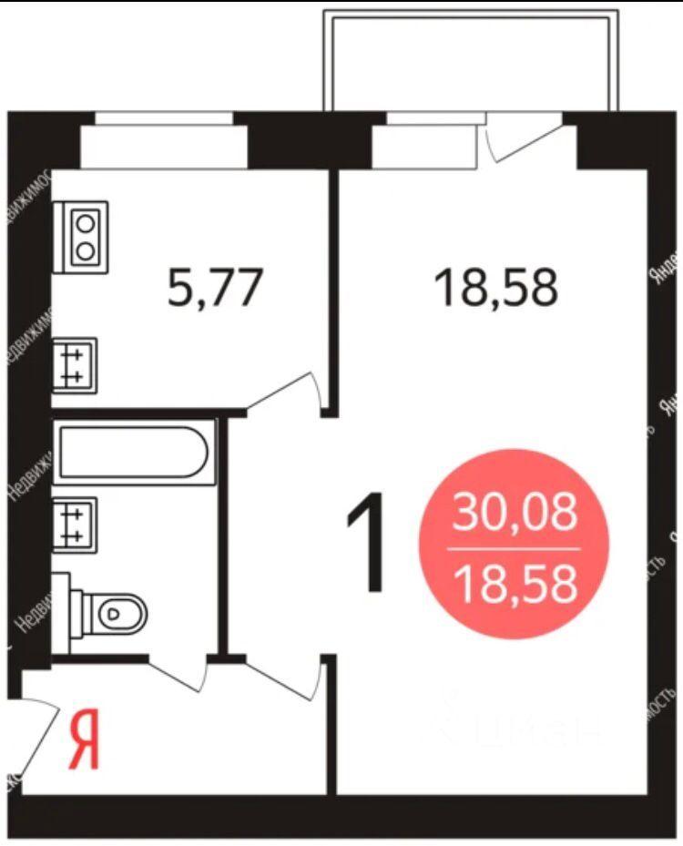 Продажа однокомнатной квартиры Москва, метро Первомайская, Первомайская улица 73, цена 8150000 рублей, 2021 год объявление №618782 на megabaz.ru