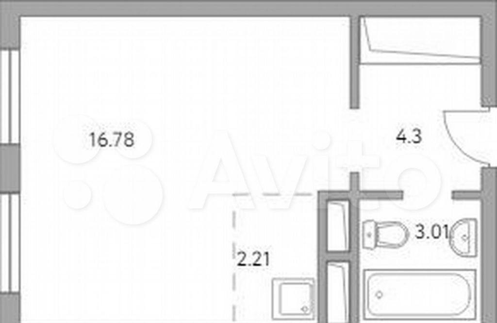 Продажа студии деревня Глухово, улица Рублёвское Предместье 1Б, цена 3174625 рублей, 2021 год объявление №687532 на megabaz.ru