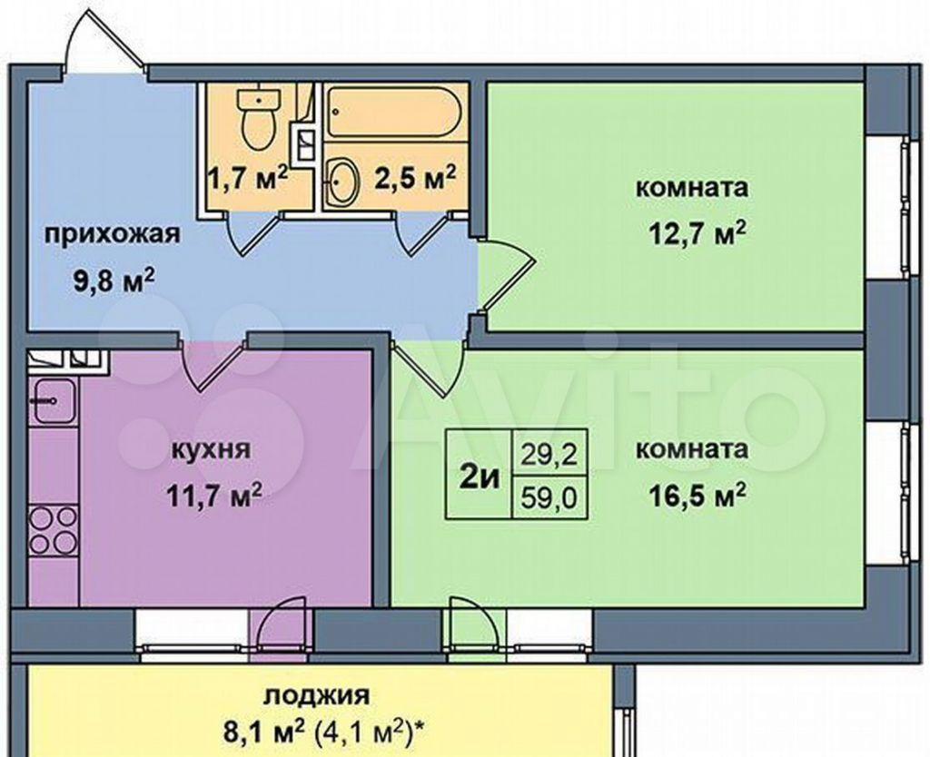 Продажа двухкомнатной квартиры деревня Высоково, цена 4000000 рублей, 2021 год объявление №610529 на megabaz.ru