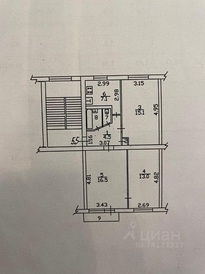 Продажа трёхкомнатной квартиры рабочий посёлок Столбовая, Парковая улица 1, цена 5000000 рублей, 2021 год объявление №630745 на megabaz.ru