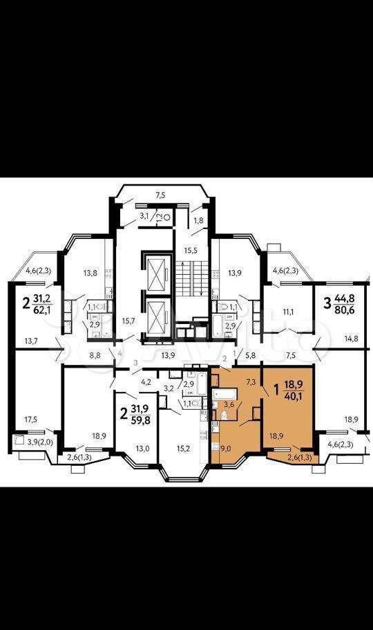 Продажа однокомнатной квартиры поселок Битца, метро Улица Старокачаловская, Парковая улица 3, цена 7150000 рублей, 2021 год объявление №615258 на megabaz.ru