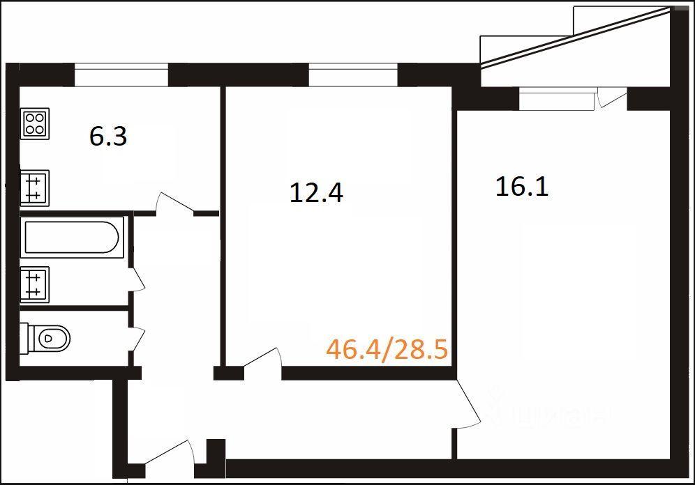 Продажа двухкомнатной квартиры Москва, метро Сокольники, Русаковская улица 22, цена 13800000 рублей, 2021 год объявление №633575 на megabaz.ru