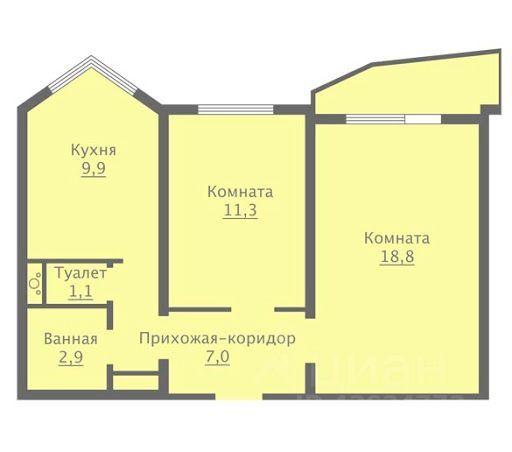 Продажа двухкомнатной квартиры Москва, метро Каховская, Болотниковская улица 31, цена 16500000 рублей, 2021 год объявление №630586 на megabaz.ru