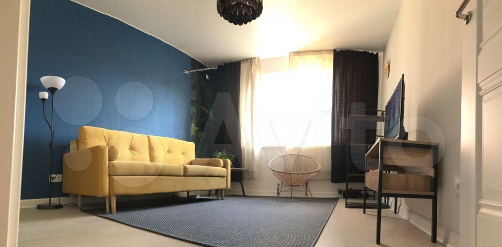 Аренда однокомнатной квартиры Пушкино, улица Просвещения 10к2, цена 27000 рублей, 2021 год объявление №1432680 на megabaz.ru