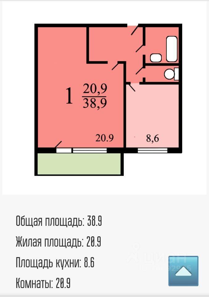 Продажа однокомнатной квартиры Москва, метро Волжская, улица Чистова 22, цена 10000000 рублей, 2021 год объявление №636271 на megabaz.ru