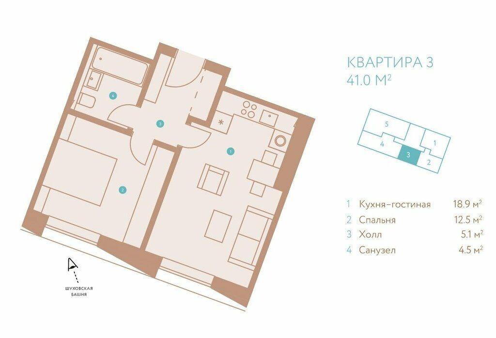 Продажа однокомнатной квартиры Москва, метро Шаболовская, Донская улица 14к1, цена 32800000 рублей, 2021 год объявление №632162 на megabaz.ru