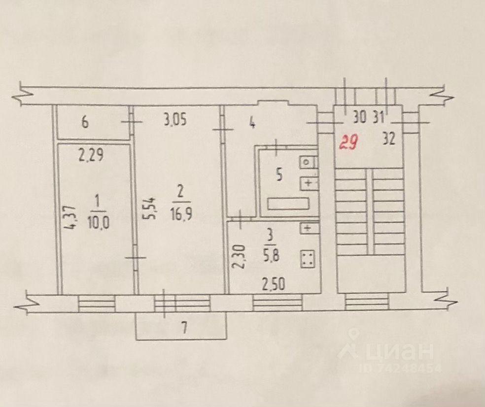 Продажа двухкомнатной квартиры рабочий посёлок Калининец, цена 4650000 рублей, 2021 год объявление №631699 на megabaz.ru