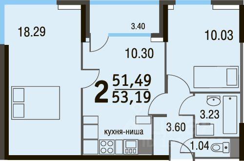 Продажа двухкомнатной квартиры деревня Жабкино, цена 6000000 рублей, 2021 год объявление №633444 на megabaz.ru