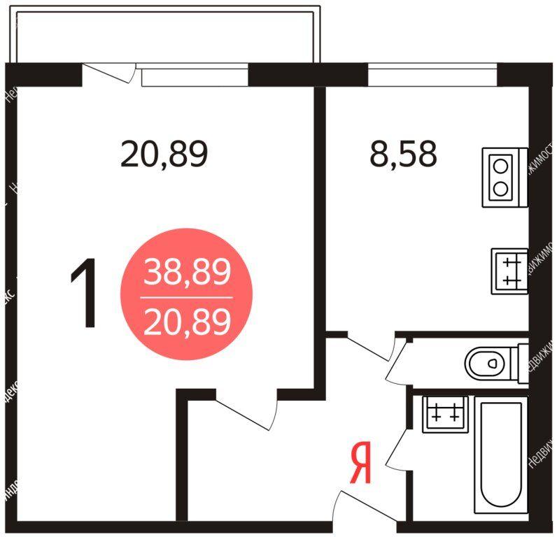 Продажа однокомнатной квартиры Москва, метро Алма-Атинская, Братеевская улица 39/12, цена 9450000 рублей, 2021 год объявление №634225 на megabaz.ru