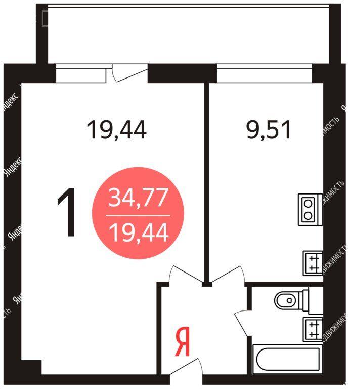 Продажа однокомнатной квартиры Москва, метро Южная, Сумской проезд 25к1, цена 8100000 рублей, 2021 год объявление №652185 на megabaz.ru