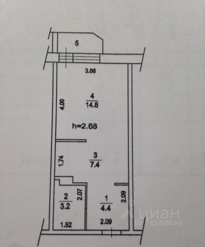 Продажа студии деревня Мотяково, цена 3800000 рублей, 2021 год объявление №635375 на megabaz.ru