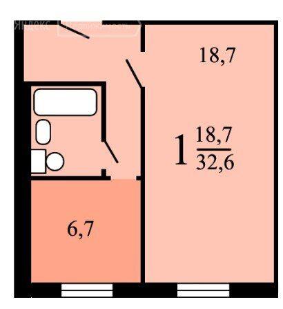Продажа однокомнатной квартиры Москва, метро Каширская, Пролетарский проспект 2, цена 8700000 рублей, 2021 год объявление №654662 на megabaz.ru