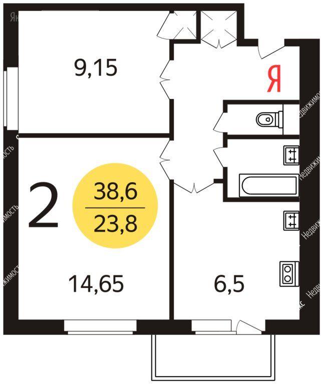Продажа двухкомнатной квартиры Москва, метро Улица 1905 года, улица Пресненский Вал 42, цена 11950000 рублей, 2021 год объявление №555890 на megabaz.ru