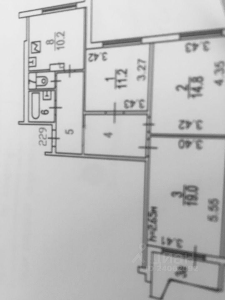Продажа трёхкомнатной квартиры Москва, метро Севастопольская, Сумской проезд 2к6, цена 19500000 рублей, 2021 год объявление №636936 на megabaz.ru
