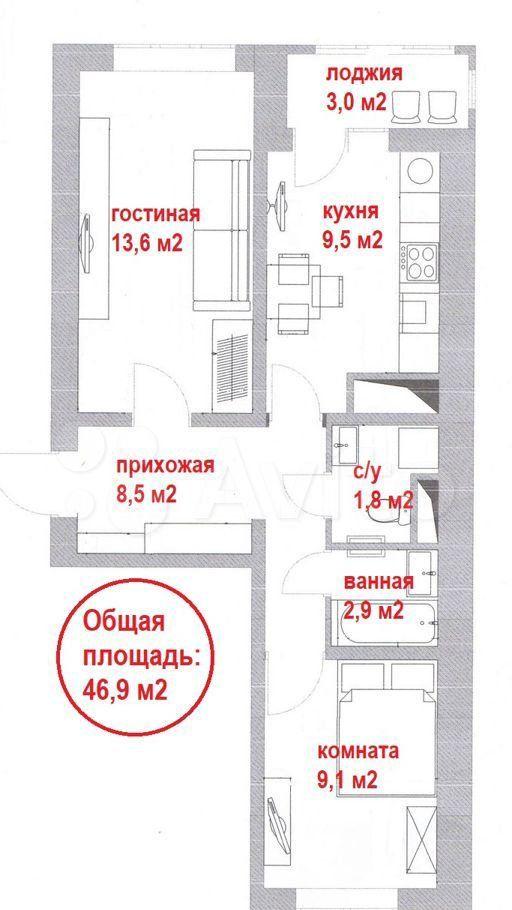 Продажа двухкомнатной квартиры Москва, метро Улица Скобелевская, Южная улица 27, цена 9000000 рублей, 2021 год объявление №690758 на megabaz.ru