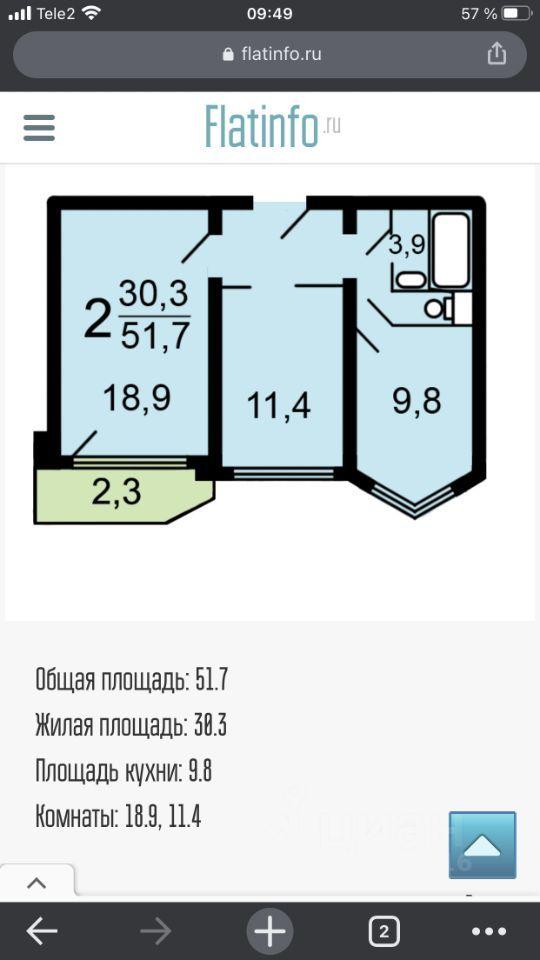 Продажа двухкомнатной квартиры Москва, метро Свиблово, Ивовая улица 6к2, цена 12500000 рублей, 2021 год объявление №637762 на megabaz.ru