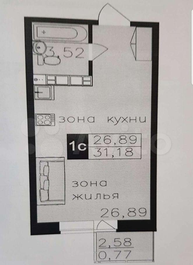 Продажа студии Щелково, Жегаловская улица 29А, цена 3300000 рублей, 2021 год объявление №637737 на megabaz.ru