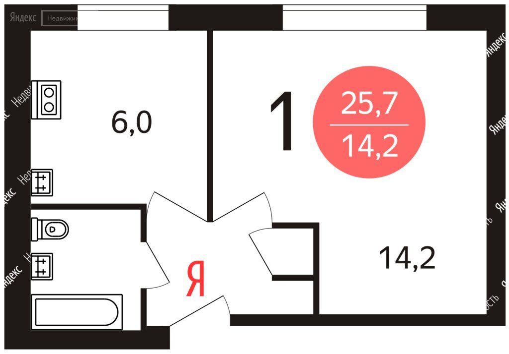 Аренда однокомнатной квартиры Москва, Озёрная улица 30к1, цена 30000 рублей, 2021 год объявление №1409045 на megabaz.ru