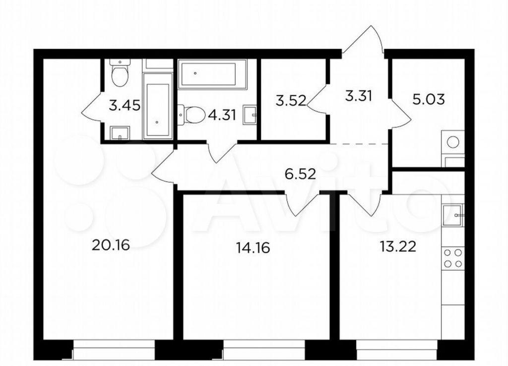 Продажа двухкомнатной квартиры Москва, метро Автозаводская, Симоновская набережная 3к1, цена 31995342 рублей, 2021 год объявление №691818 на megabaz.ru