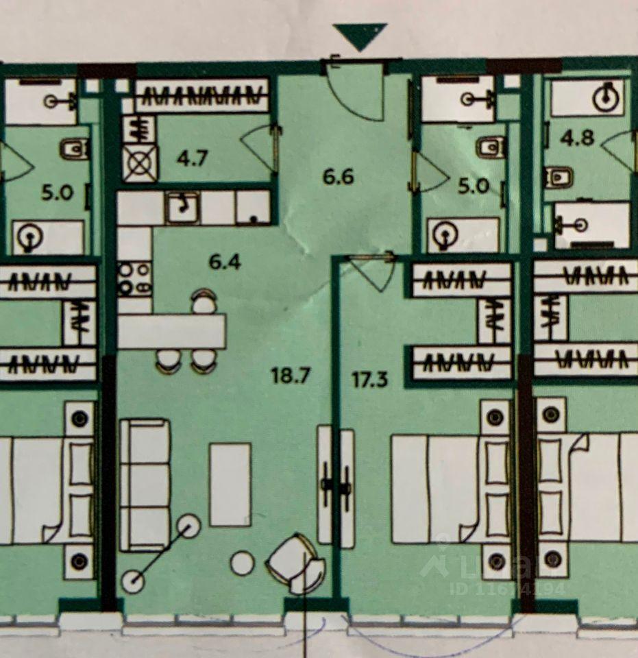 Аренда двухкомнатной квартиры Москва, метро Савеловская, Бумажный проезд 4, цена 145000 рублей, 2021 год объявление №1428291 на megabaz.ru