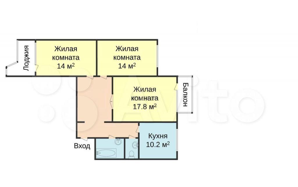 Продажа трёхкомнатной квартиры Москва, метро Юго-Западная, улица Академика Анохина 34к2, цена 21000000 рублей, 2021 год объявление №687428 на megabaz.ru