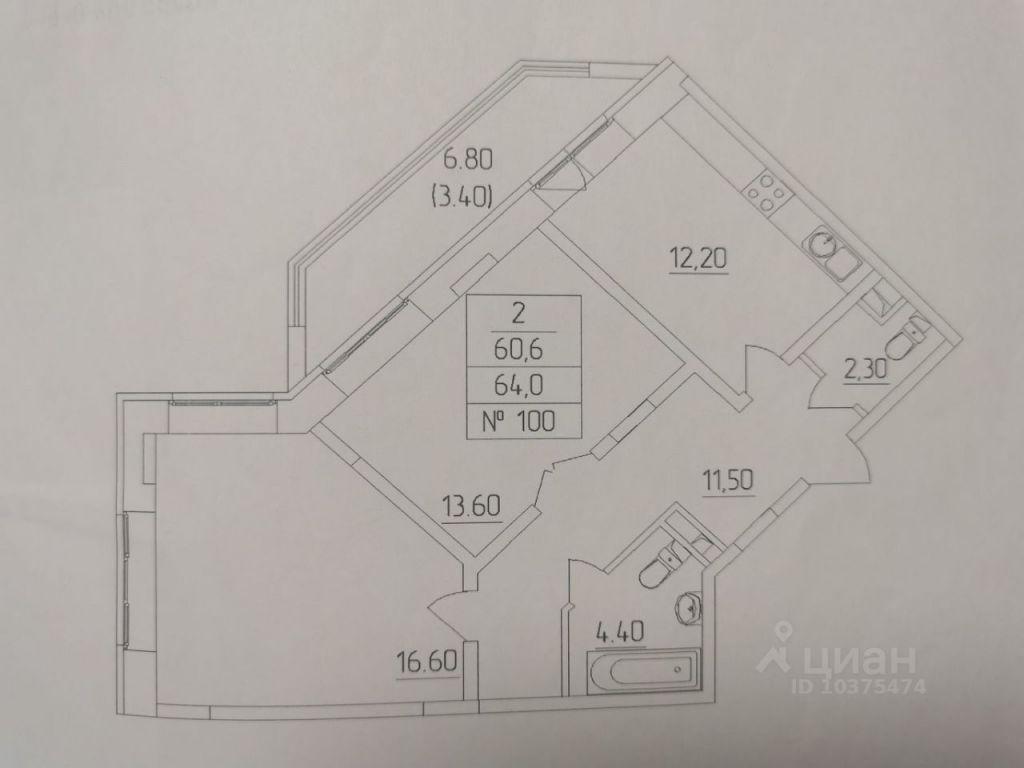 Продажа двухкомнатной квартиры деревня Высоково, цена 5500000 рублей, 2021 год объявление №633318 на megabaz.ru