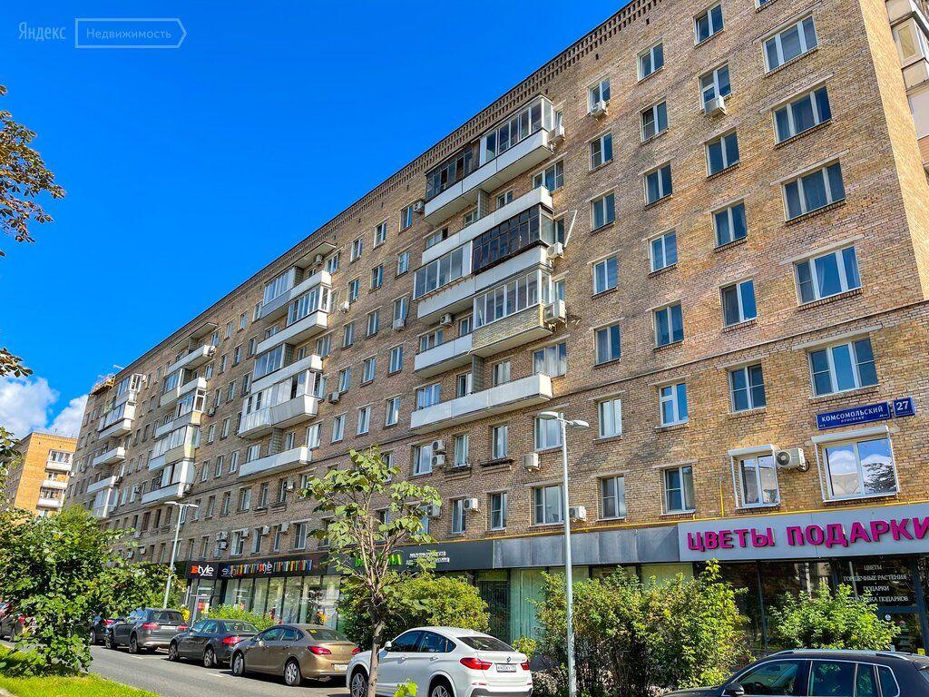 Продажа двухкомнатной квартиры Москва, метро Фрунзенская, Комсомольский проспект 27с5, цена 30000000 рублей, 2021 год объявление №681973 на megabaz.ru
