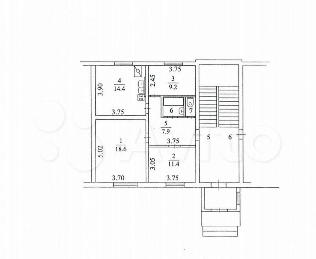 Продажа трёхкомнатной квартиры село Ям, Центральная улица 25с25, цена 5650000 рублей, 2021 год объявление №676975 на megabaz.ru