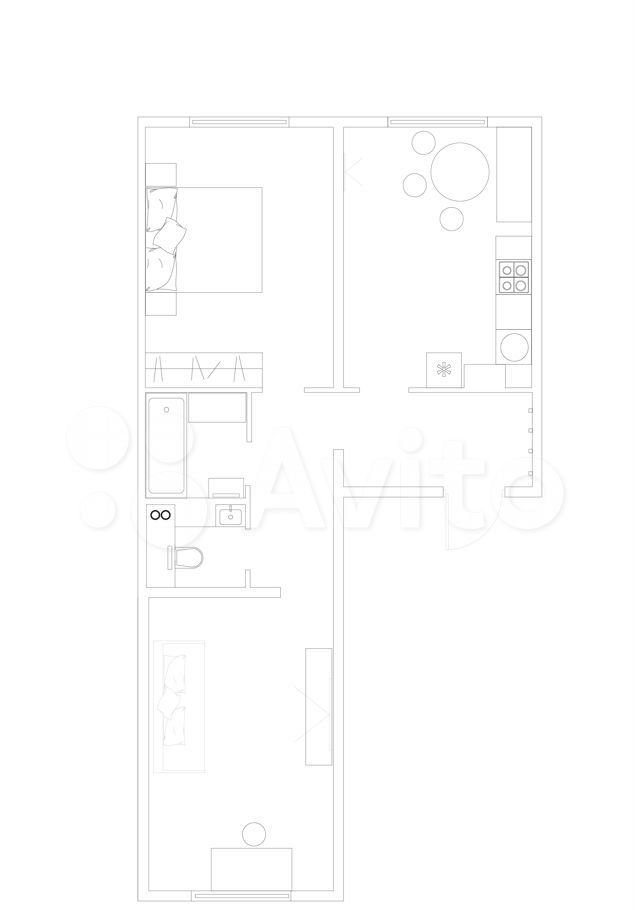 Аренда двухкомнатной квартиры деревня Елино, цена 35000 рублей, 2021 год объявление №1431552 на megabaz.ru