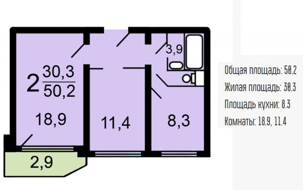 Продажа двухкомнатной квартиры Москва, метро Братиславская, Мячковский бульвар 9, цена 10300000 рублей, 2020 год объявление №405270 на megabaz.ru
